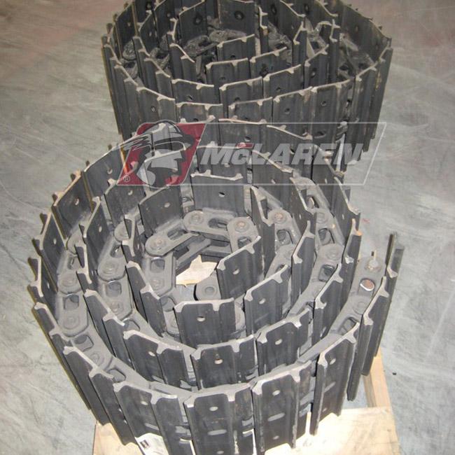 Hybrid Steel Tracks with Bolt-On Rubber Pads for Kubota KH 41 R
