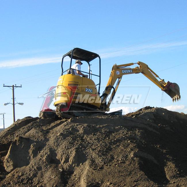 Maximizer rubber tracks for Kobelco SK 45 SR