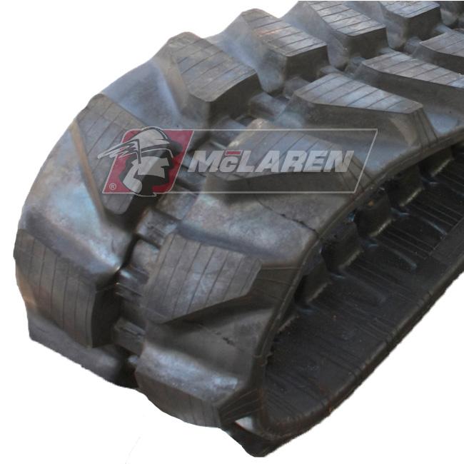 Maximizer rubber tracks for Hitachi EX 75 UR