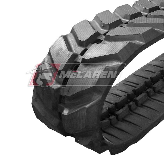 Maximizer rubber tracks for Komatsu PC 75 MR-6
