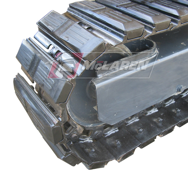 Hybrid Steel Tracks with Bolt-On Rubber Pads for Fermec 135