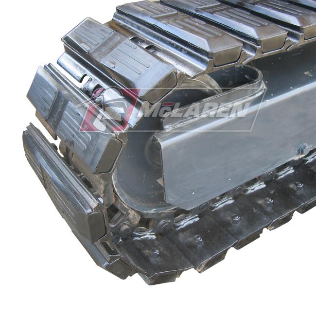 Hybrid Steel Tracks with Bolt-On Rubber Pads for Kubota KH 130