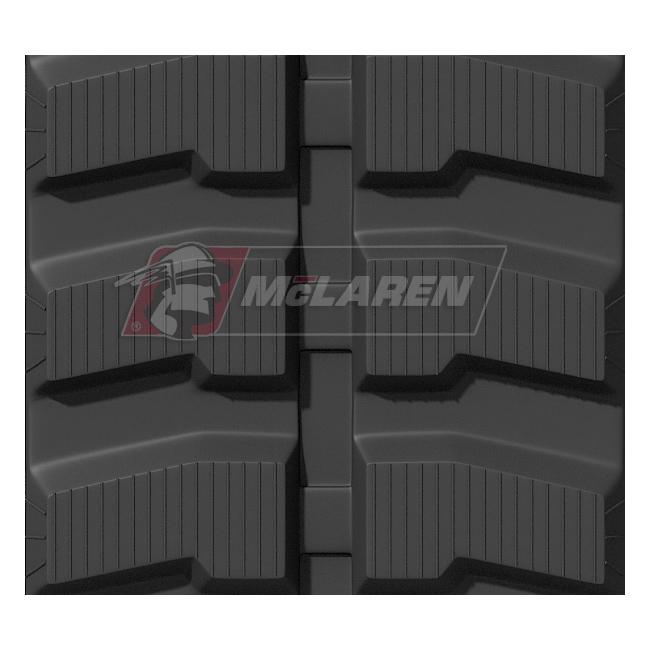 Maximizer rubber tracks for Komatsu PC 40 FR-1
